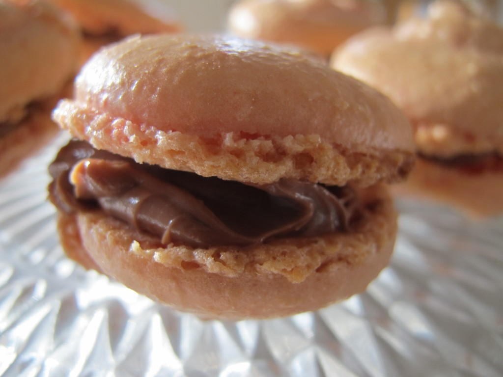 Chocolate Philadelphia Macarons