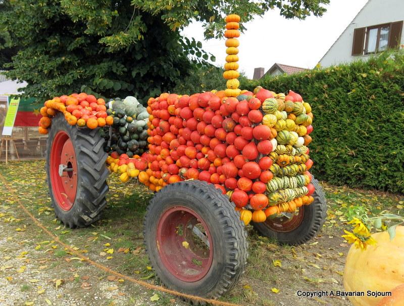pumpkin tractor
