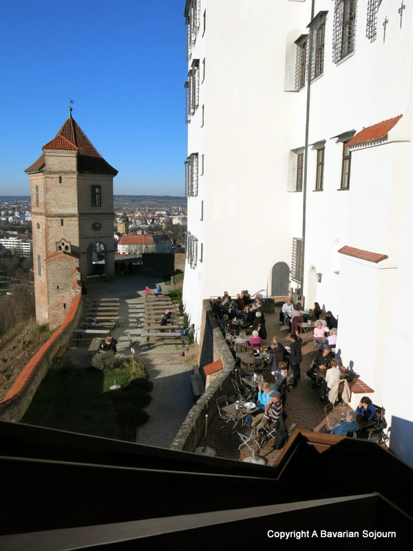 view from burg trausnitz