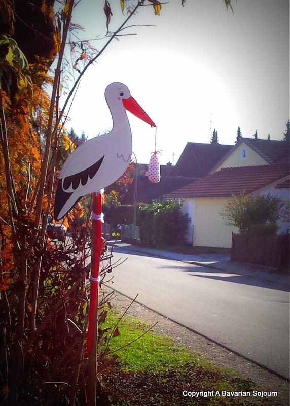 bavarian baby stork