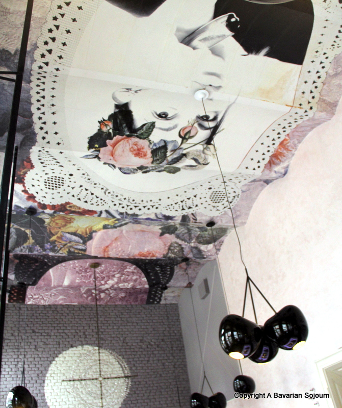 Cafe Lolita's ceiling...
