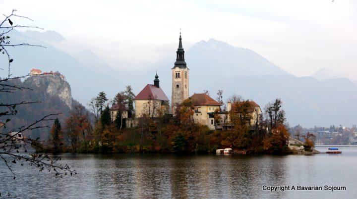 Looking at Lake Bled