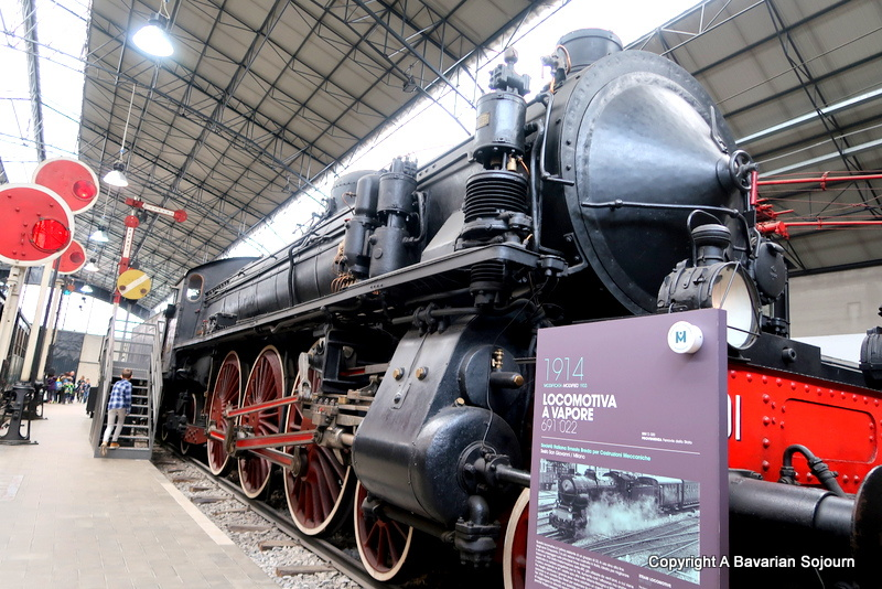 steam trains milan science museum