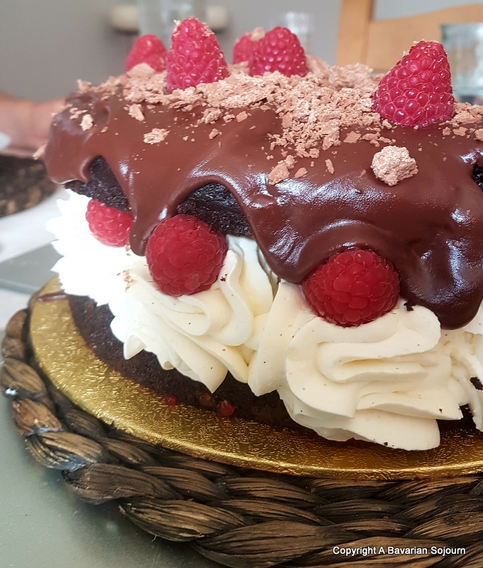 italian chocolate cake baked by romanos
