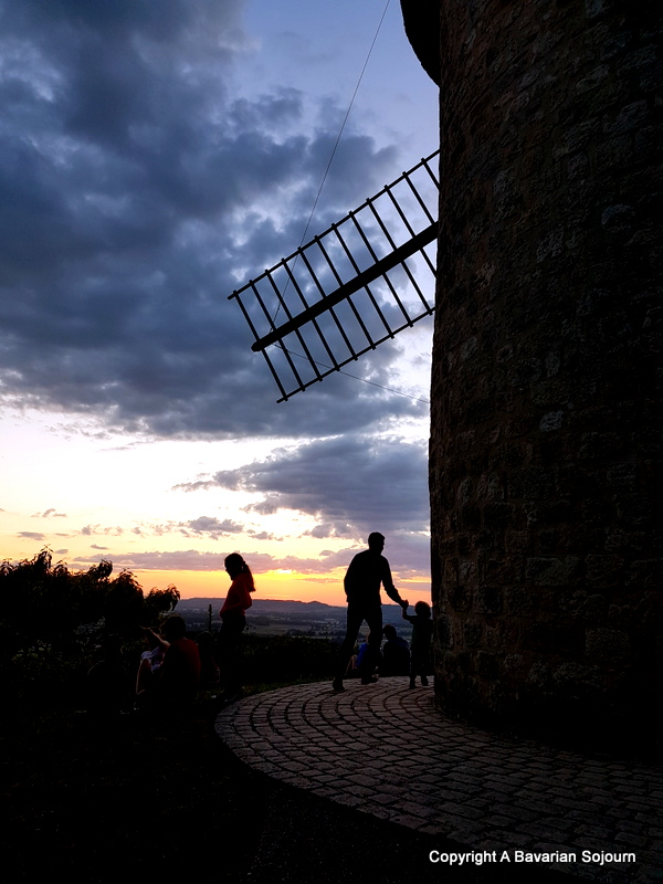 windmill sunset france