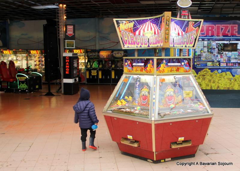 exploring arcades Blackpool