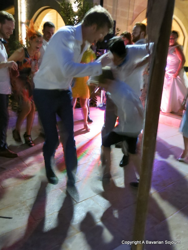 break dancing at Italian Weddings