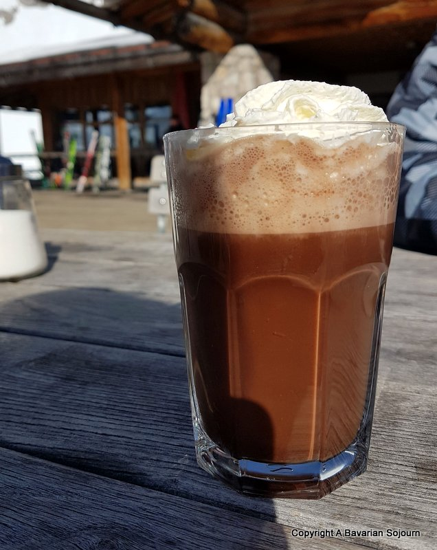 hot chocolate zugspitze
