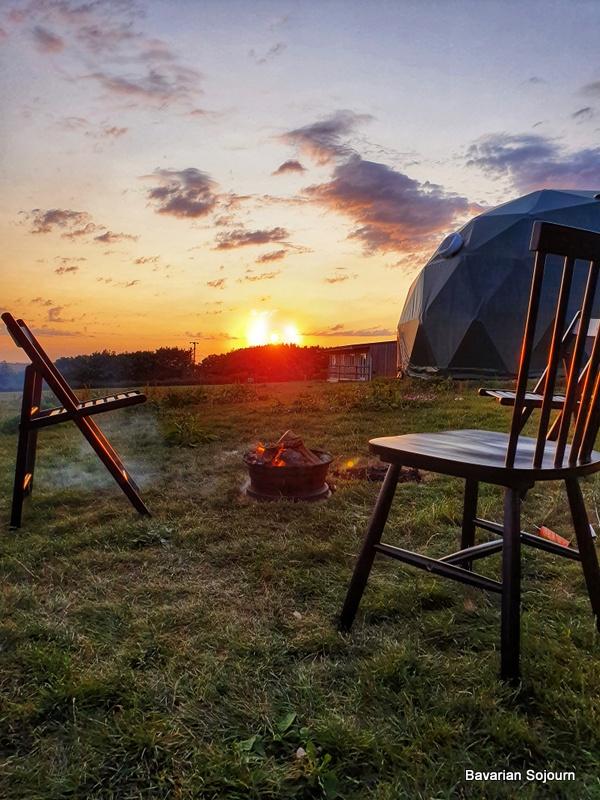 Toms Eco Lodge sunset