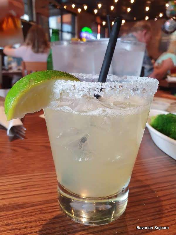 Margarita with lime and salt rim