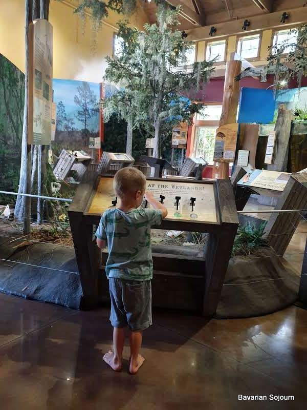 Child at visitors center at Circle B Wildlife Reserve