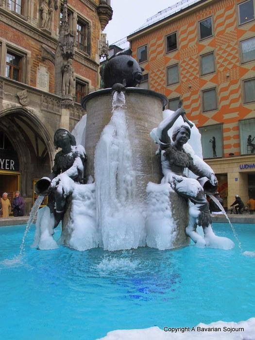 Frozen Fountain Munich
