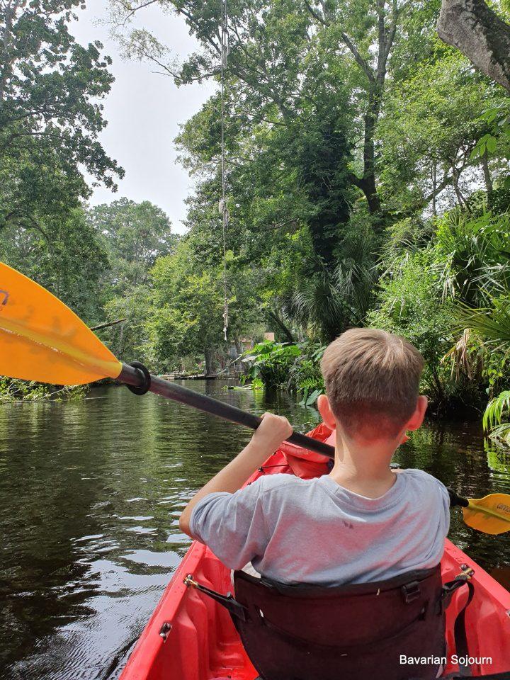 Kayaking on Weeki Wachee Springs Florida